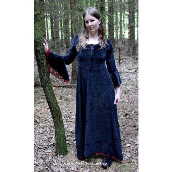 Kleid Branwen, schwarz-rot