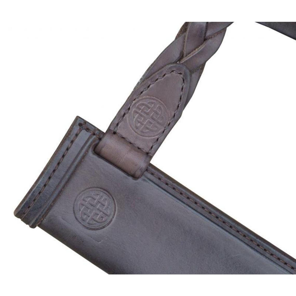Fabri Armorum Fourreau pour Scramasaxe, laçage en cuir tressé