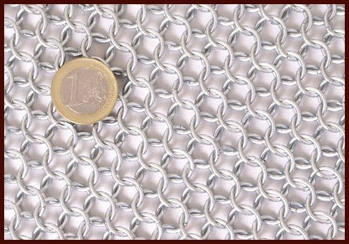Chain mail arm protection, zinc-plated