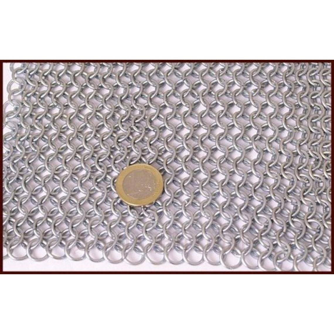 Chain mail shoulder piece, zinc-plated, 9 mm