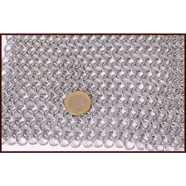 Chain mail shoulder piece, zinc-plated, 9 mm