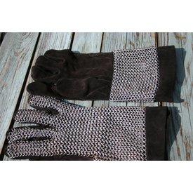 Ringbrynjor handskar, förzinkad, 6 mm