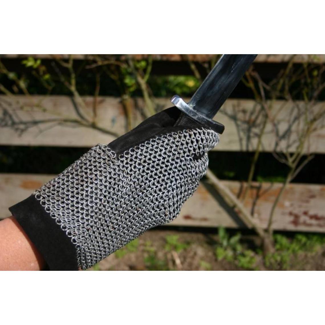 Łańcuchowe rękawice mail, ocynkowane, 6 mm