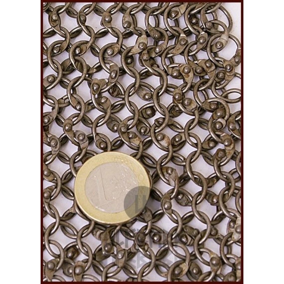 Ulfberth Cofia con cuello cuadrado, anillos redondos - remaches redondos, 8 mm