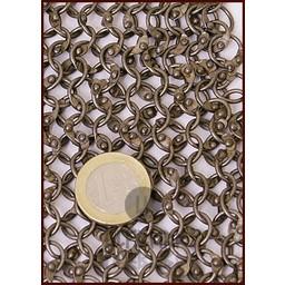 Coif med fyrkantig ringning, Runda ringar - Runda nitar, 8 mm