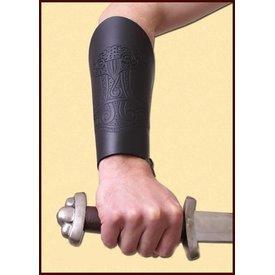 Deepeeka Paar Armschienen mit Thors Hammer