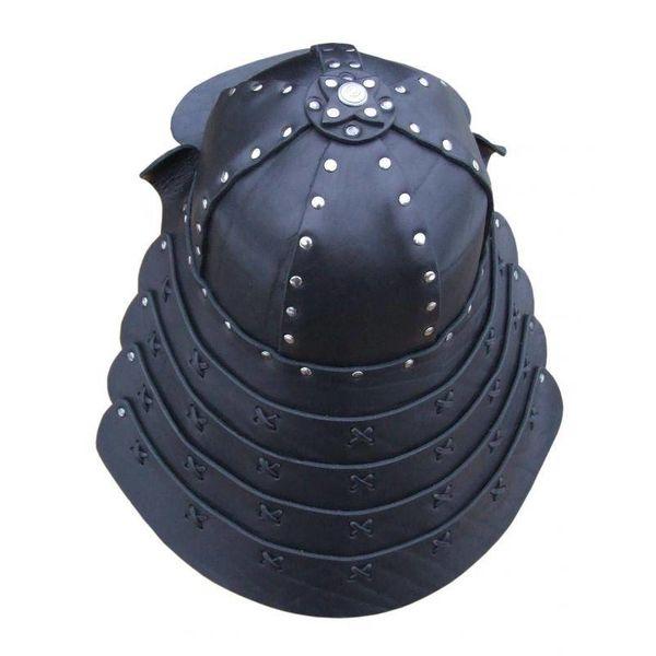 Læder samurai hjelm
