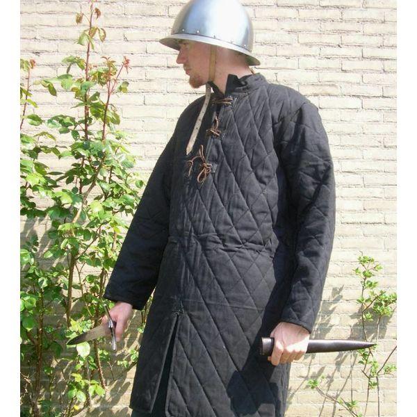 Ulfberth Lång gambeson med läder spets
