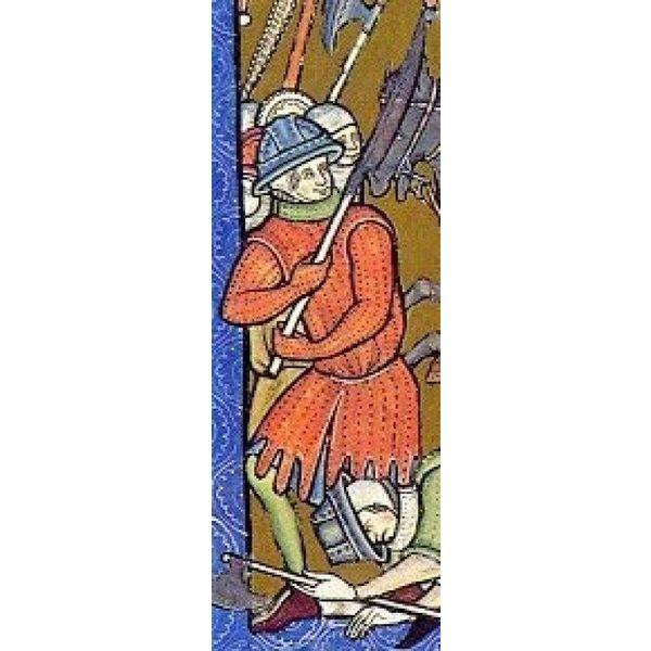 Ulfberth Lang slagkofte med læder blonder