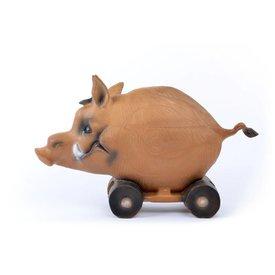 Cochon sur roulettes en 3D