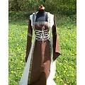 Kleid Boann (braun-weiß)