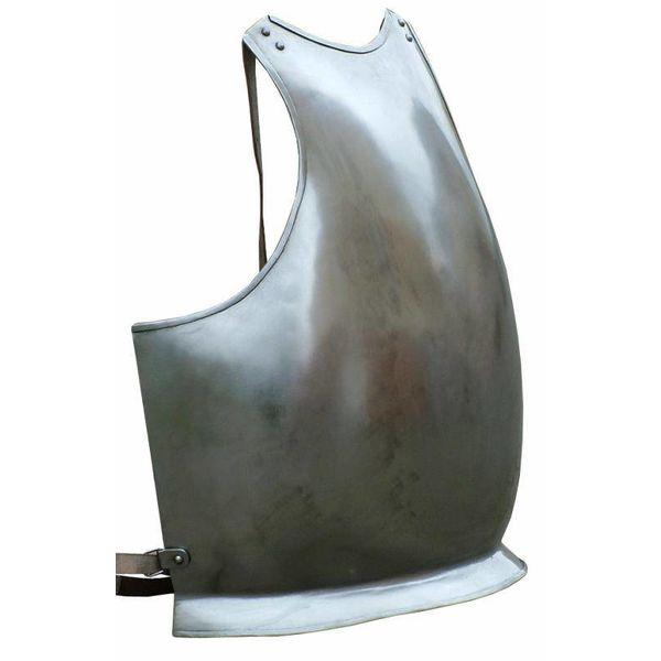 Brystplade med læderremme