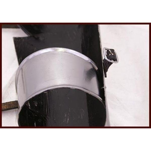 Steel greaves