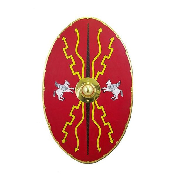 Shield Romans made from wood with interior fittings in metal brass