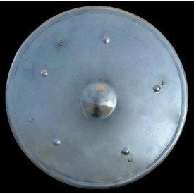 Escudo redondo en acero, 55 cm