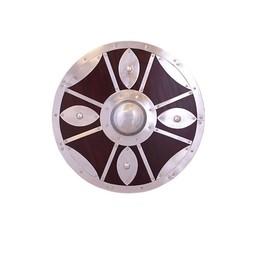 Bouclier rond décoré d'acier