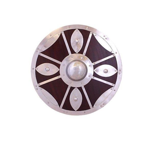 Deepeeka Bouclier rond décoré d'acier