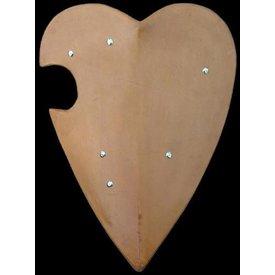 Escudo de torneo em forma de corazón