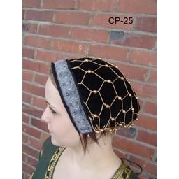 Cap with hairnet