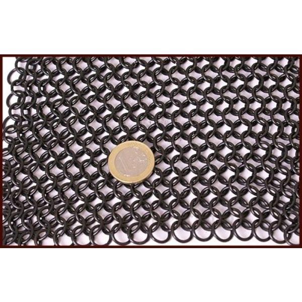 Coif med kvadrat visir, svärtade, 8 mm