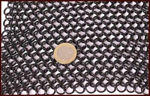Maliënkap met vierkanten vizier, gebronsd, 8 mm
