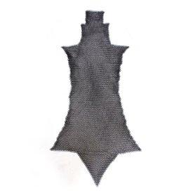 Chain mail chausses, sværtede, 8 mm