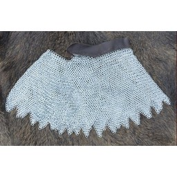 Chain mail aventail, zinc-plated, 8 mm