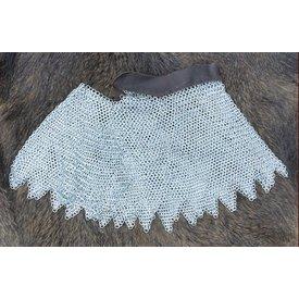 Kettenhemd Helmbrünne, verzinkt, 8 mm