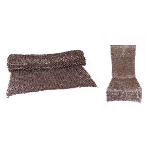 Ulfberth Chain mail skirt, flat rings-round rivets, 8 mm