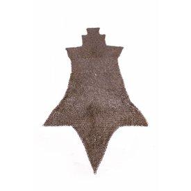 Ulfberth Ringbrynjor chausses, Platta ringar kil nitar, 8 mm