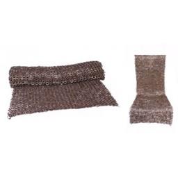Kettenhemd Rock, gemischte Flachringe-Keilnieten, 8 mm