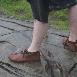 Chaussures début du Moyen Age