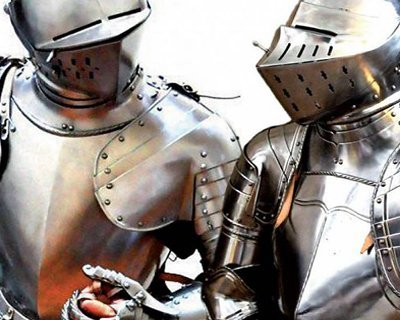 Battle-ready suits of armour