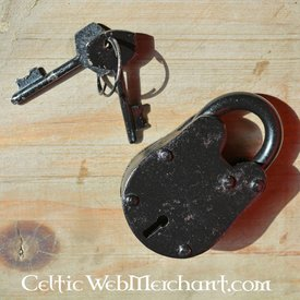 cadeado histórica pequena