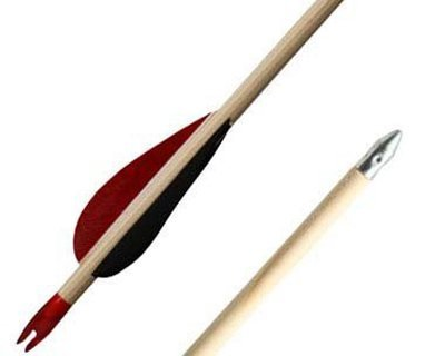 Modern and traditional archery arrows