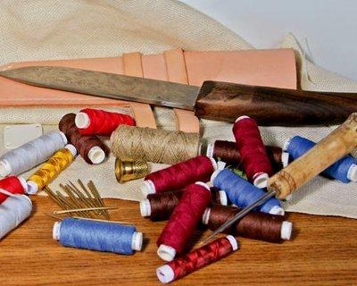 Equipo de costura & tijeras