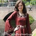Leonardo Carbone Vestido Anna Boleyn rojo