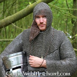 Coif with triangular visor, 8 mm