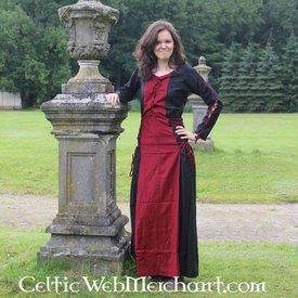 Leonardo Carbone Vestido Fea negro-rojo