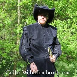 Skjorta med sladdar svart S, specialerbjudande!