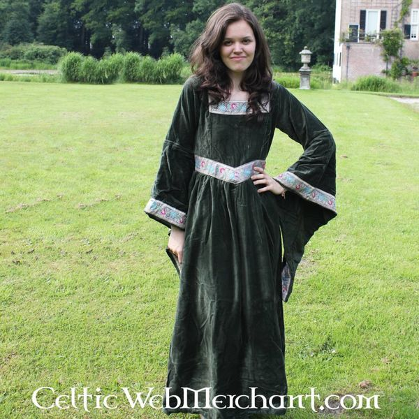 Kleid Anna Boleyn grün