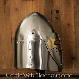 Sugarloaf Helm mit Klappblende, 1,6 mm Stahl, poliert