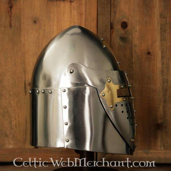 Deepeeka Sugarloaf Helm, met scharnierend vizier 1,6mm,gepolijst