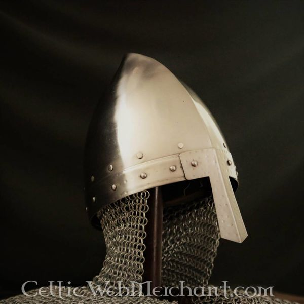 Nasal helmet with chainmail