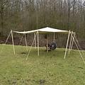 Luifel 4 x 4 m g/m²