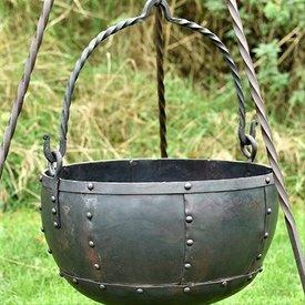Stor tidlig middelalder heksekedel 9 liter