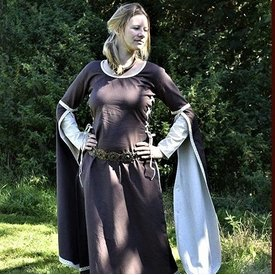 Medieval Dress Dorothee, brąz / naturalny kolorze