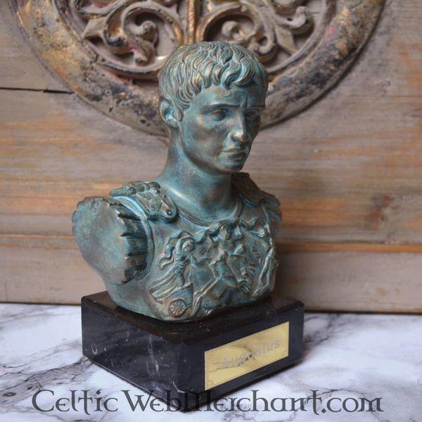 Buste d'Auguste de Prima Porta, bronze