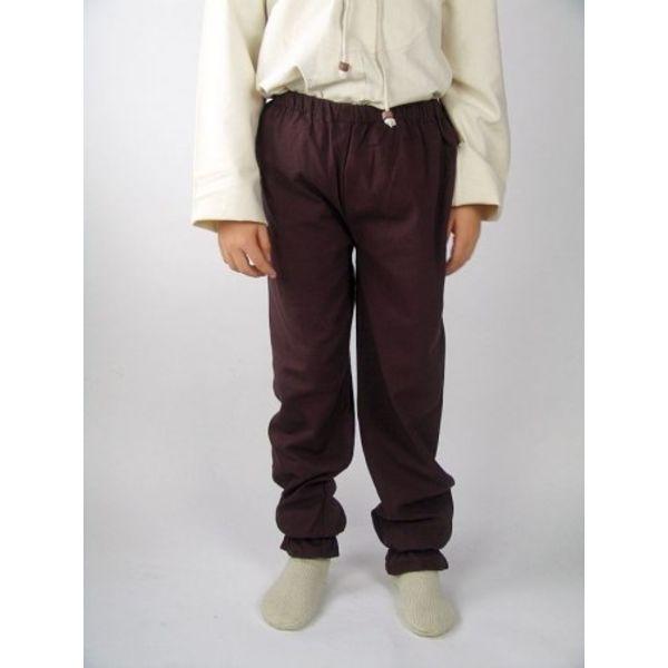Historische broek voor kinderen XS bruin, speciale aanbieding!