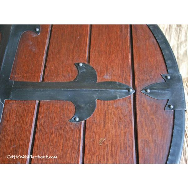 Wooden runde Skjold med kors